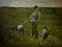 M.Liebermann, Junge mit Ziegen von AKG  Images