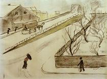 A.Macke, Strassenecke im Schnee, 1911 by AKG  Images
