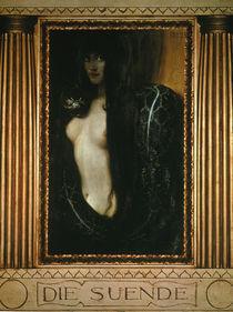 Fr.v.Stuck, Die Suende / 1893 von AKG  Images