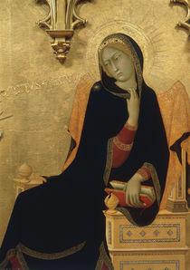 Simone Martini, Verkuendigung, Maria by AKG  Images