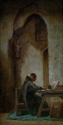 C.Spitzweg, Studierender Moench by AKG  Images