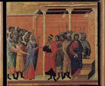 Duccio, Christus wird Pilatus ueberantw. by AKG  Images