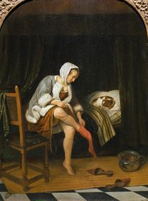 J.Steen, Frau bei der Toilette by AKG  Images