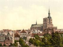 Stralsund, Innenstadt mit Nicolaikirche von AKG  Images