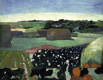 Gauguin, Heuhaufen in der Bretagne/1890