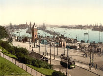 Hamburg,Hafen,Landungsbruecken/Photochrom by AKG  Images