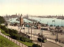 Hamburg,Hafen,Landungsbruecken/Photochrom von AKG  Images