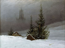 C.D.Friedrich, Winterlandschaft m.Kirch by AKG  Images