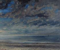 G.Courbet, Strand bei Sonnenuntergang von AKG  Images