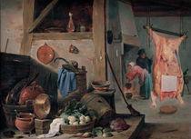 D.Teniers d.J., Kueche mit Stilleben von AKG  Images