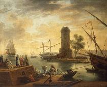 Cl.J.Vernet, Hafen am Mittelmeer by AKG  Images