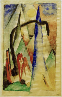 Franz Marc, Pferd in Landschaft by AKG  Images