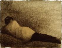 G.Seurat, Liegender Mann (Studie) von AKG  Images