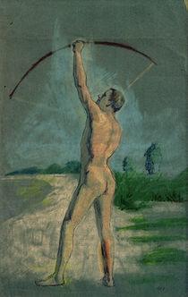 A.Macke, Bogenschuetze / Pastell, 1903 von AKG  Images