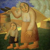 K.Malewitsch, Frau mit Eimern und Kind von AKG  Images