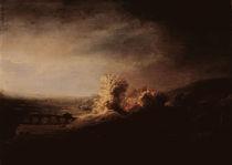 Rembrandt/ Landschaft mit Bogenbruecke by AKG  Images