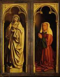 E.Boorluut,Stifterbildnis / Genter Altar von AKG  Images