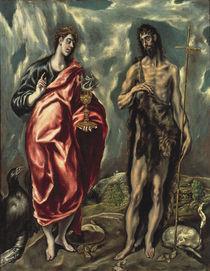 El Greco, Johannes d.T. u. Johannes Ev. by AKG  Images