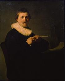 Rembrandt, Feder schneidender Mann by AKG  Images