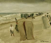 Max Liebermann, Strand mit Strandkoerben von AKG  Images