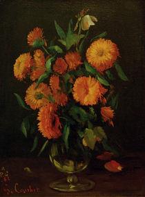 G.Courbet, Vase mit Ringelblumen von AKG  Images