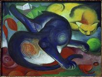 F.Marc, Zwei Katzen, blau und gelb von AKG  Images