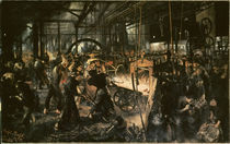 Menzel/Eisenwalzwerk/1875 by AKG  Images