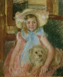 M.Cassatt, Sara, ihren Hund haltend von AKG  Images