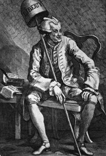 John Wilkes / Radierung von Hogarth von AKG  Images