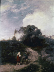 Hans Thoma, Die Eseltreiberin/ 1869 by AKG  Images