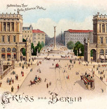 Berlin, Hallesches Tor / Postkarte 1900 by AKG  Images
