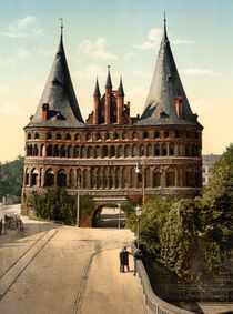 Luebeck, Holstentor / Photochrom von AKG  Images