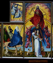 R.v.der Weyden, Christus, Michael, Maria by AKG  Images