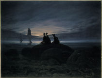 C.D.Friedrich, Mondaufgang am Meer/1822 by AKG  Images