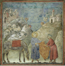 Giotto, Mantelspende des hl.Franz by AKG  Images