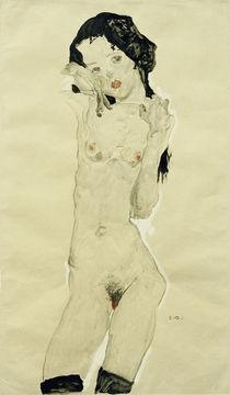 E.Schiele, Schwarzhaariger Maedchenakt von AKG  Images