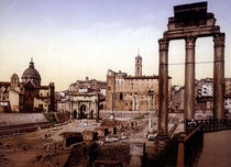Rom, Forum Romanum / Photochrom um 1900 by AKG  Images