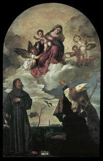 Tizian, Maria mit Kind und Heiligen by AKG  Images