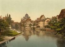 Nuernberg, Pegnitz mit Synagoge /Photochr von AKG  Images