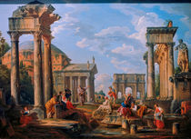 G.P.Pannini, Roemische Architektur by AKG  Images
