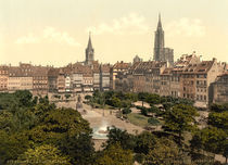 Strassburg, Place Kleber / Photochrom by AKG  Images