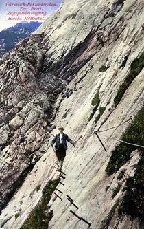 Zugspitze, Besteigung / Postkarte von AKG  Images
