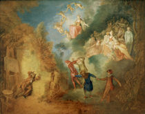 A.Watteau, Der Traum des Kuenstlers von AKG  Images