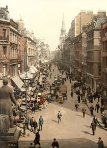 London,Cheapside,Photochrom um 1890/1900 von AKG  Images