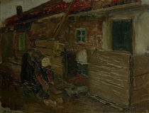M.Liebermann, Hollaend.Bauernhaus m.Frau by AKG  Images