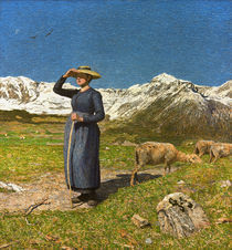 G. Segantini, Mittag in den Alpen von AKG  Images