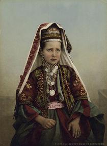Palaestina, Junge Frau aus Bethlehem von AKG  Images