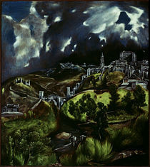 El Greco, Gewitter ueber Toledo von AKG  Images