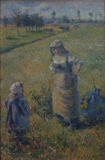 C.Pissarro, Baeuerin mit Kind von AKG  Images