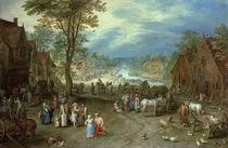 J.Brueghel d.Ae., Dorflandschaft von AKG  Images
